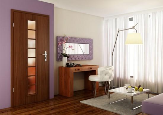 Шпонированные двери довольно практичны и просты в уходе