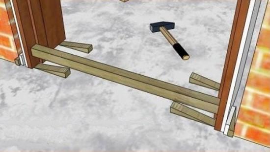 Использование распорных клиньев