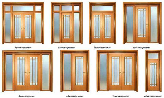 Фрамуги для разных типов дверей