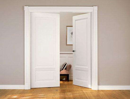 Двухстворчатые распашные двери МДФ