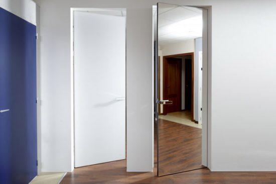 Двери с классическим зеркалом