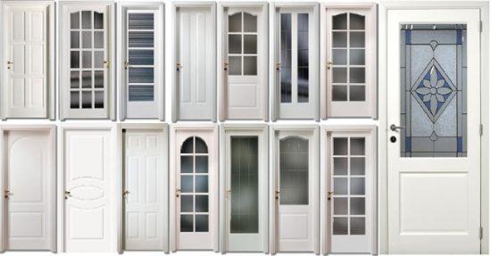 Виды пластиковых дверей по типу конструкции