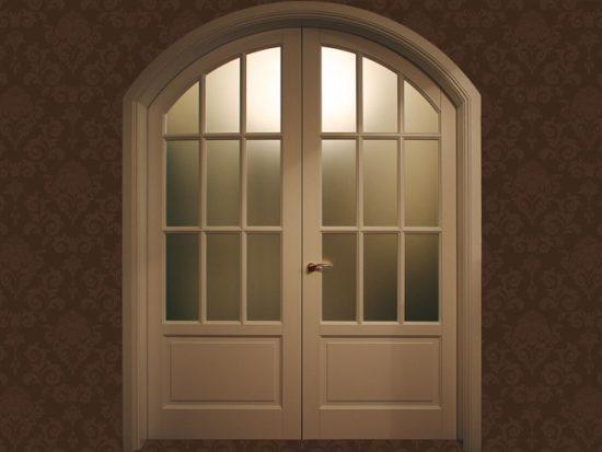 Двухстворчатые арочные двери