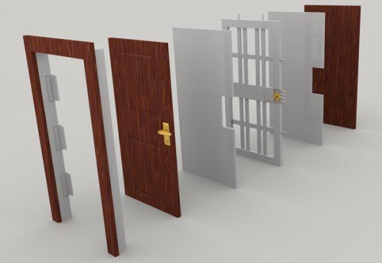 Конструкция бронированной двери