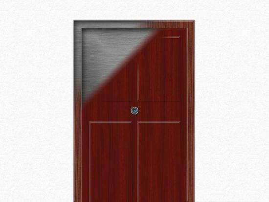 Внешняя отделка бронированной двери