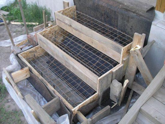 Процесс строительства кирпичного крыльца