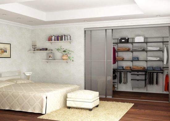 Раздвижные алюминиевые двери с матовым стеклом