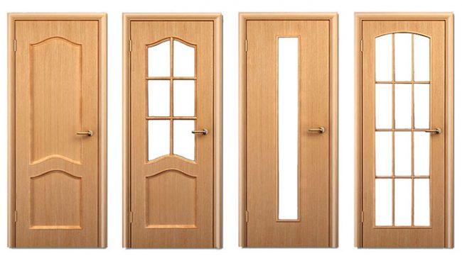 Варианты исполнения филенчатых дверей