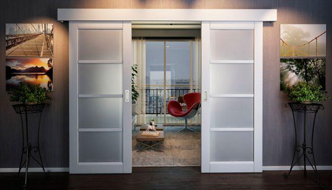 Межкомнатные откатные двери