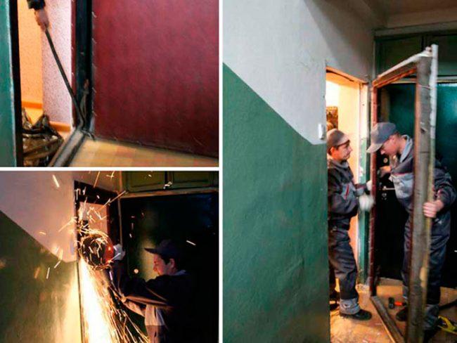 Демонтаж старой двери