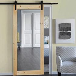 Межкомнатные двери с зеркалом с одной стороны