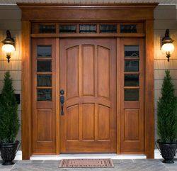Входные двери своими руками из дерева